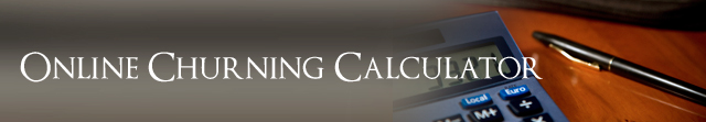 Online Churning Calculator